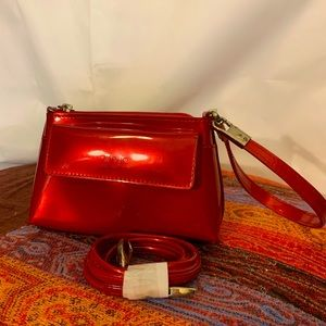 Beijo mini bag or clutch in candy apple red